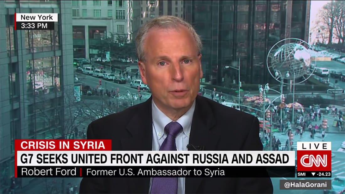 سفير أمريكا الأسبق بسوريا يبين لـCNN طبيعة نظام الأسد: ضربة الشعيرات لن توقف النظام