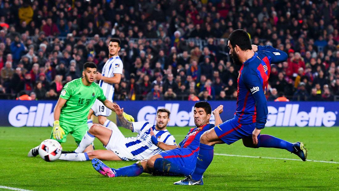 """برشلونة يلتقي سوسيداد وريال مدريد ضيفا على خيخون قبل """"الكلاسيكو"""""""