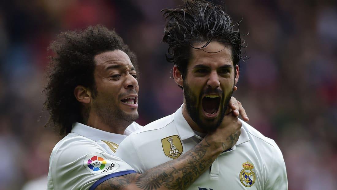 إيسكو يقود ريال مدريد لقلب الطاولة على خيخون والحفاظ على الصدارة قبل الكلاسيكو