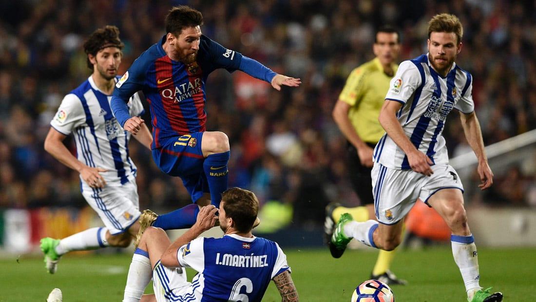 """برشلونة ينتصر على سوسيداد بشق الأنفس قبل """"الكلاسيكو"""""""