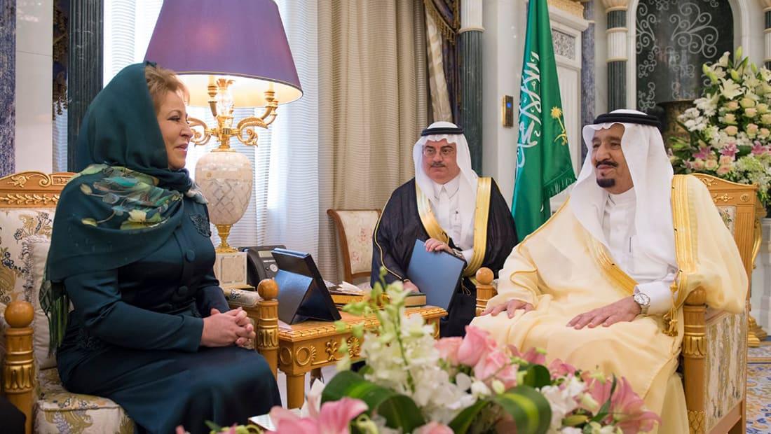 رئيسة مجلس الاتحاد الروسي توضح سبب ارتداء وشاح على رأسها في السعودية