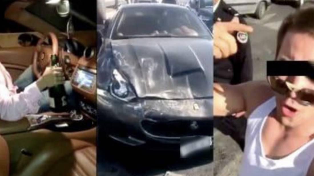 قاد مخمورا سيارة فيراري.. شاب مغربي يتسبّب بحادثة سير وضجة بالشبكات الاجتماعية