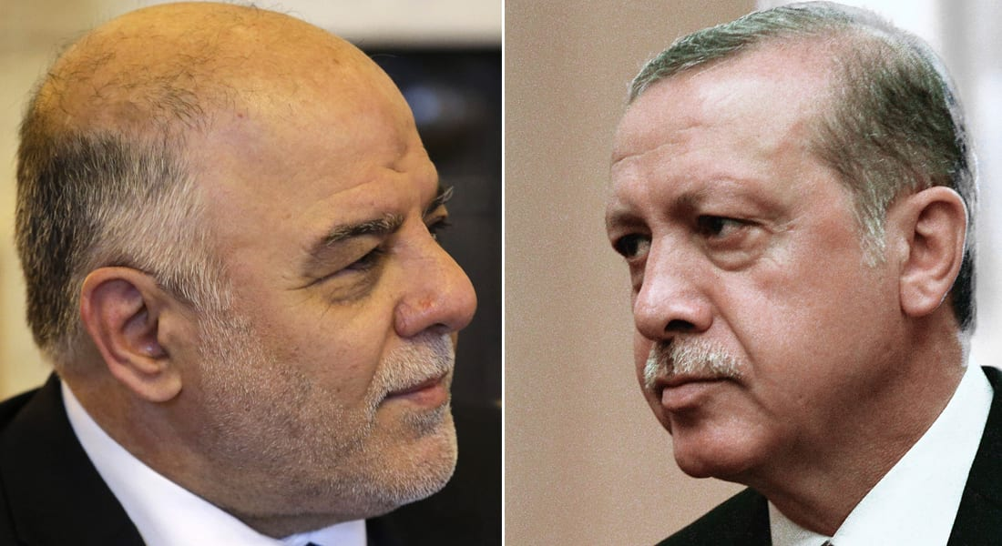 """رداً على وصف الحشد الشعبي بـ""""المنظمة الإرهابية"""".. العبادي لأردوغان: لا تتدخل في شؤون العراق"""