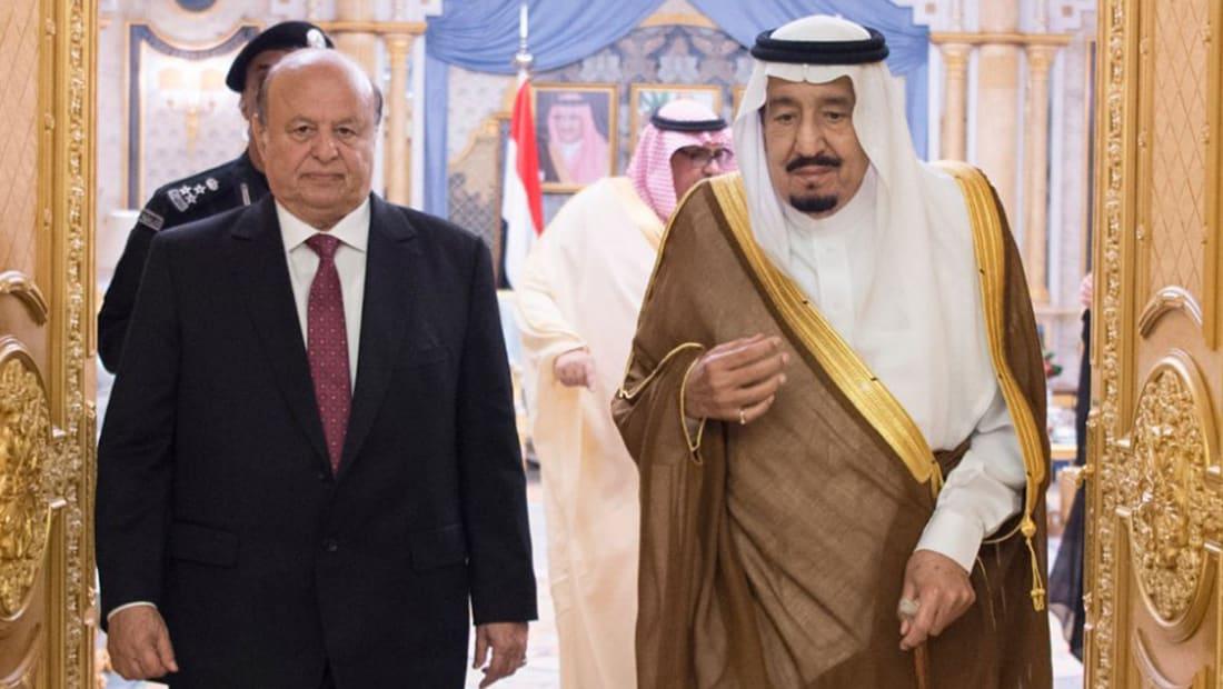 """بعد اتهام خلفان لهادي بـ""""دعم الإخوان"""".. الملك سلمان يستقبل الرئيس اليمني"""