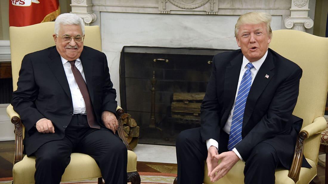 ترامب مستقبلا أبومازن: سنحقق السلام بين الإسرائيليين والفلسطينيين
