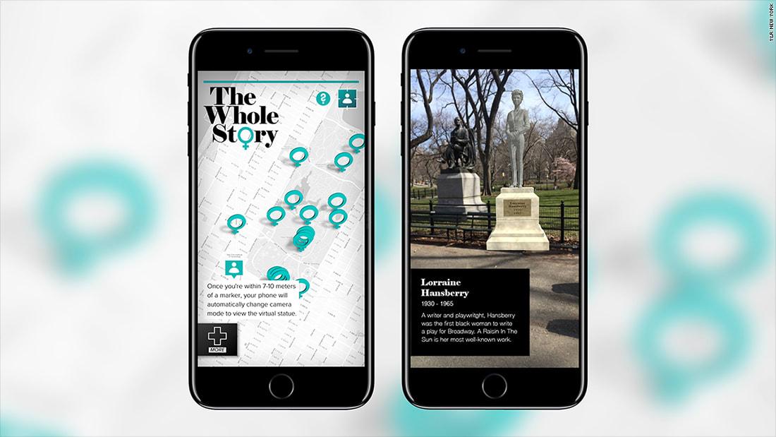 لماذا يظهر هذا التطبيق تماثيل افتراضية؟