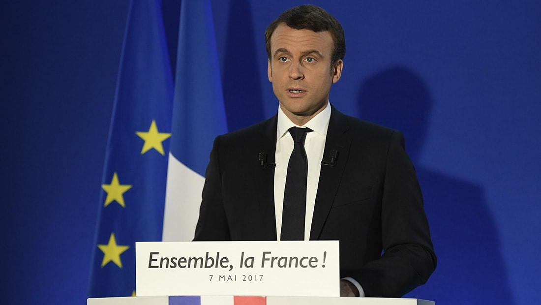 ماكرون في خطاب النصر: فرنسا ستكون في طليعة الحرب على الإرهاب