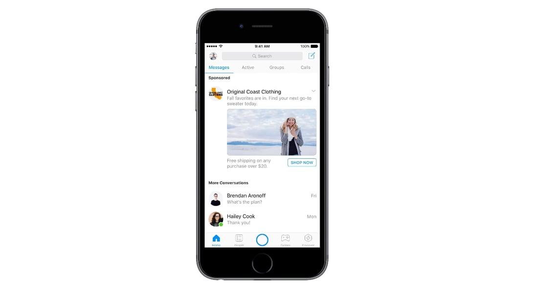 """فيسبوك تعلن قدوم الإعلانات لتطبيق """"ماسنجر"""""""