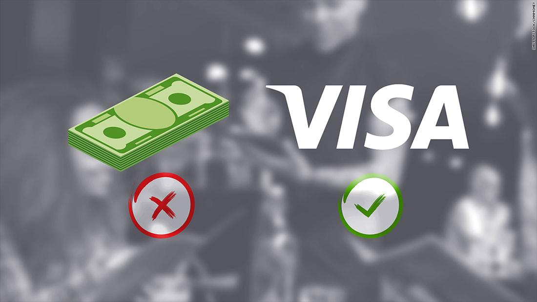 """""""فيزا"""" تدفع 10 آلاف للمطاعم للتخلص من التعاملات النقدية"""