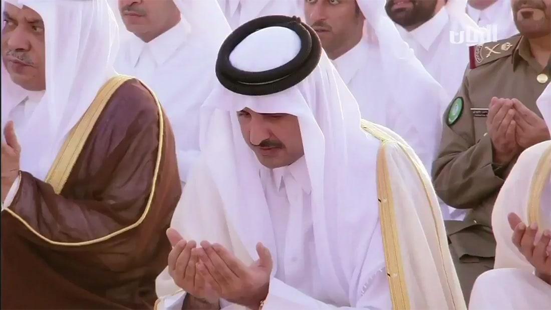 الرميحي ينشر فيديو لأمير قطر بصلاة العيد: نصرك الله على من عاداك