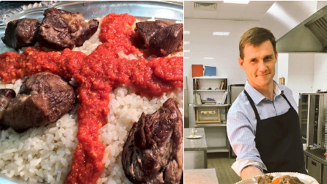 سفير بريطانيا بمصر ينشر فيديو: ما حصل لما حاولت اتعلم طبخ فتة العيد