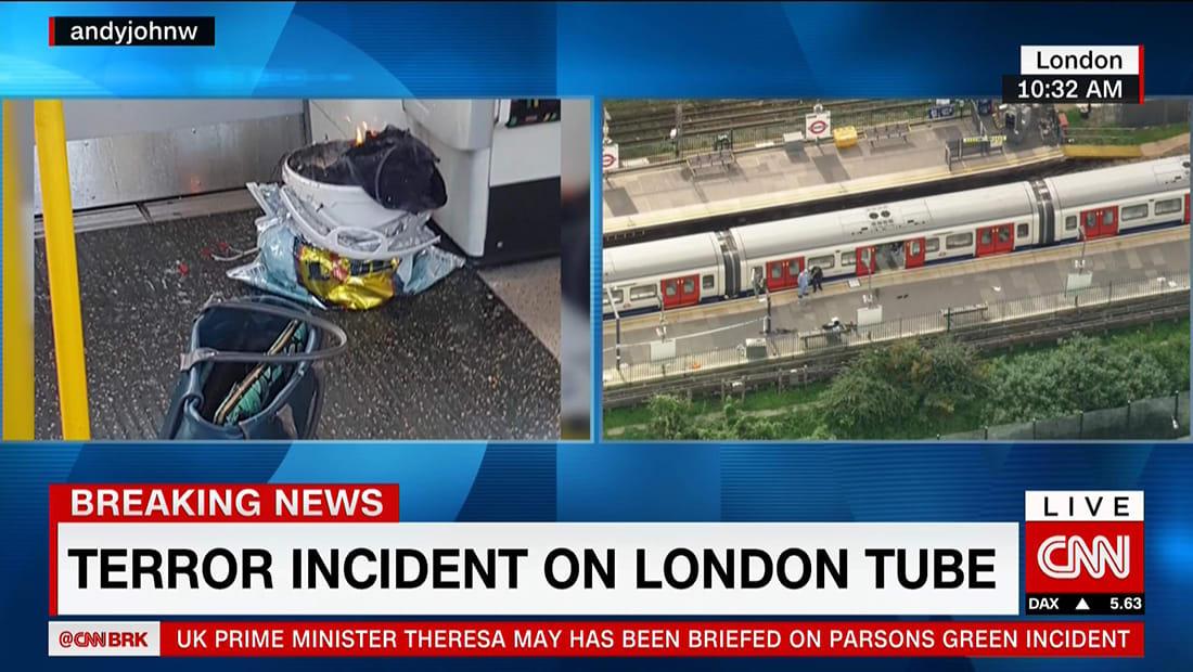 """الشرطة البريطانية تعلن الحدث بمحطة بارسون غرين لقطارات الانفاق """"إرهابا"""""""