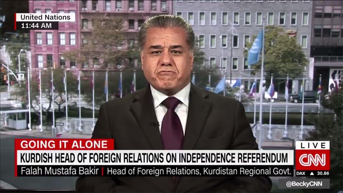 وزير خارجية كردستان لـCNN: الاستفتاء سيجري بموعده