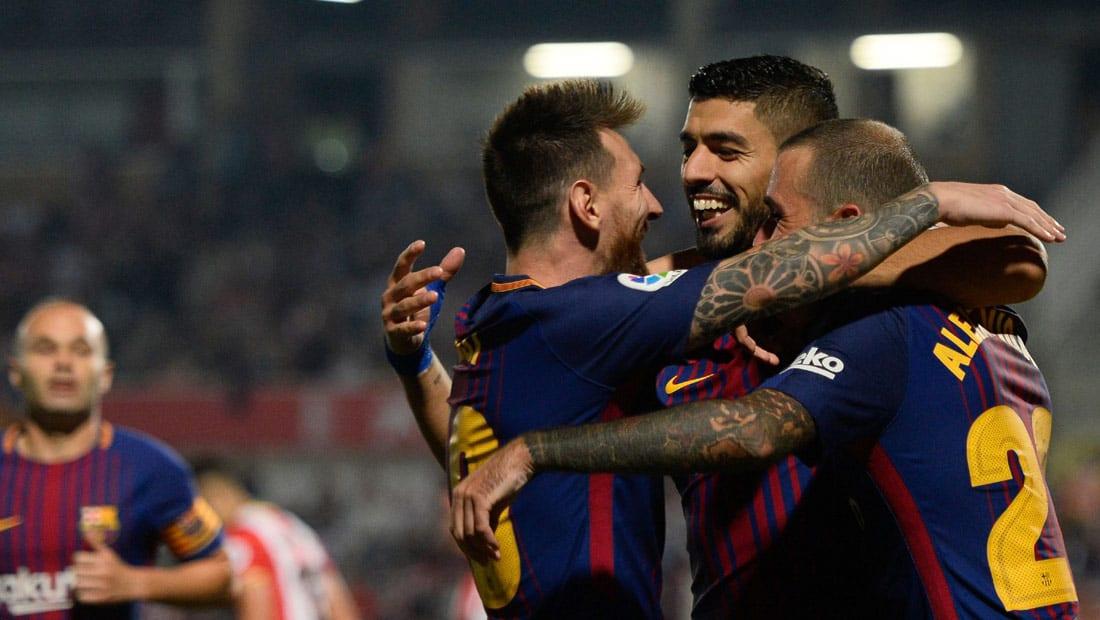 """برشلونة يكتسح جيرونا بـ """"النيران الصديقة"""".. وريال مدريد يخطف فوزا صعبا"""