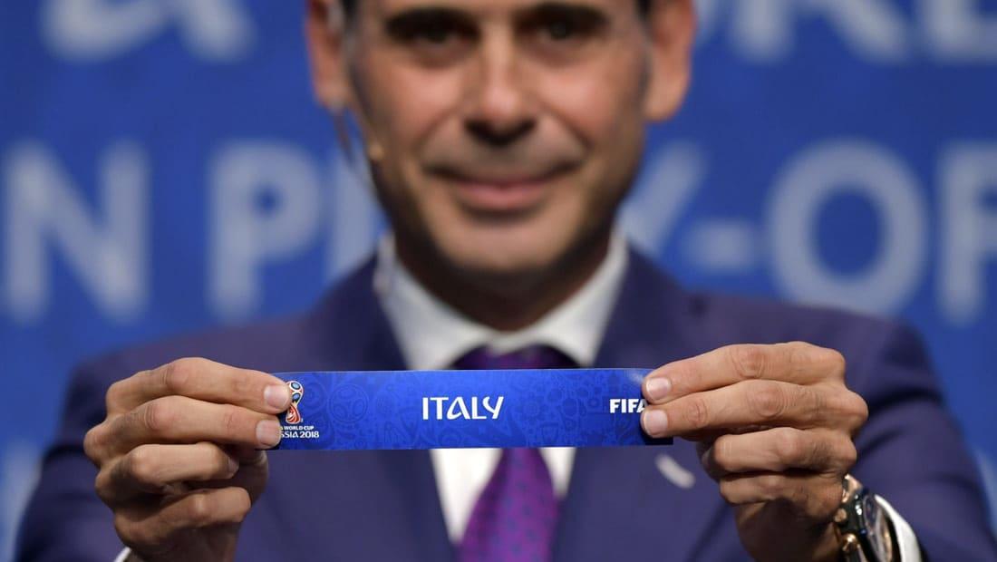 إيطاليا تواجه السويد وكرواتيا أمام اليونان في الملحق الأوروبي المؤهل لكأس العالم 2018