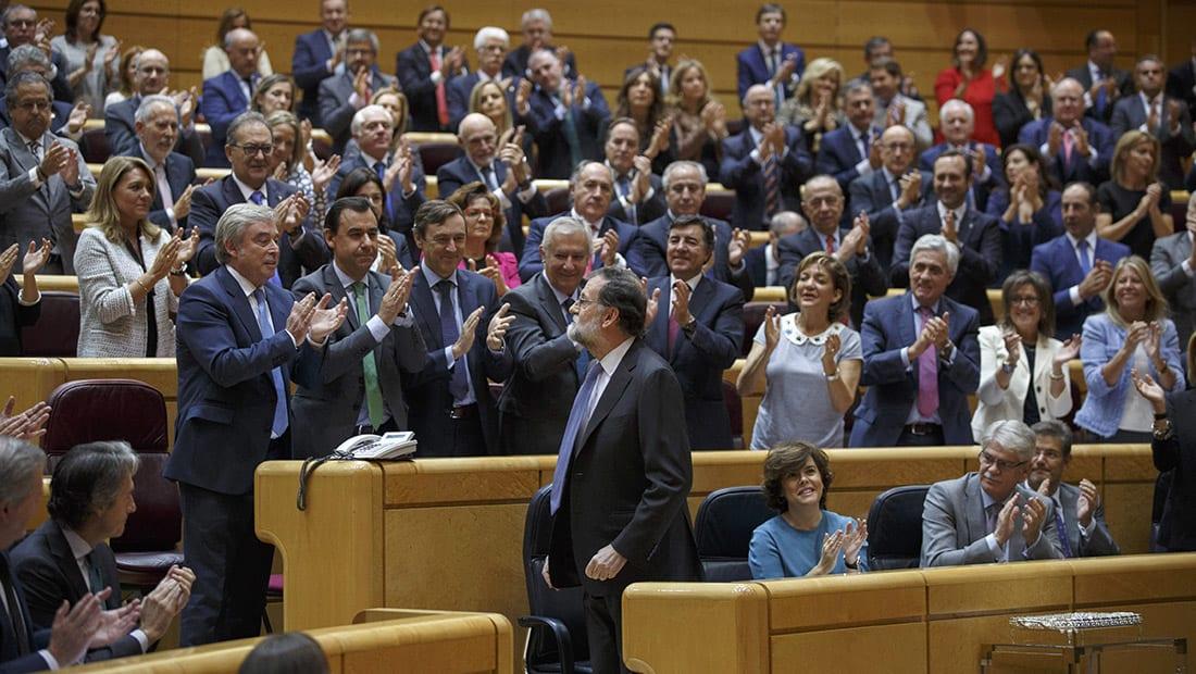 مجلس الشيوخ الإسباني يوافق على تعليق الحكم الذاتي في كتالونيا