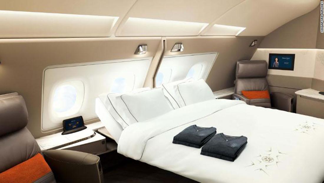سرير مزدوج في درجة رجال الأعمال على متن هذه الخطوط!