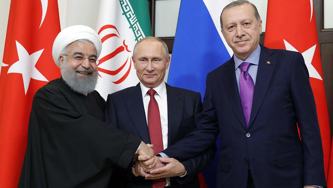 """بوتين يتفق مع أردوغان وروحاني على تنظيم """"مؤتمر حوار وطني سوري"""""""