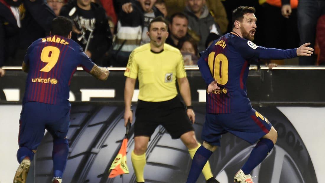 برشلونة وفالنسيا يتعادلان في مباراة مثيرة.. وقرارات الحكم تثير الجدل