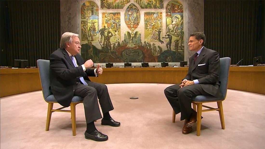 أمين عام الأمم المتحدة لـCNN: إعلان ترامب يخاطر بجهود التوصل لحل الدولتين