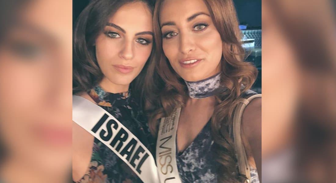 """تهديدات القتل تطارد ملكة جمال العراق سارة عيدان بعد """"السيلفي"""" مع ملكة جمال إسرائيل"""