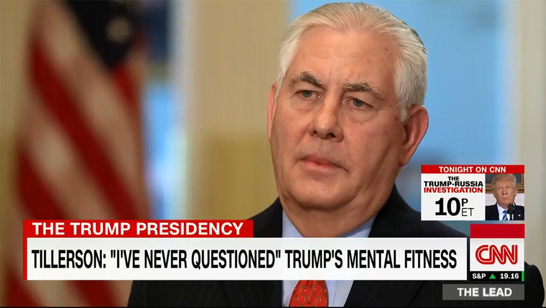 حصريا لـCNN.. ماذا رد وزير خارجية أمريكا على سؤال حول صحة ترامب العقلية؟