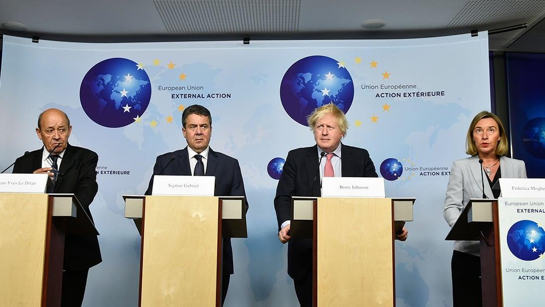 وزراء خارجية أوروبا يطالبون ترامب باحترام الاتفاق النووي الإيراني