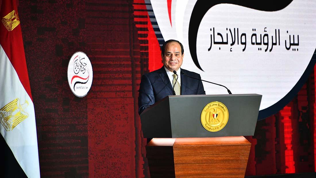 """السيسي يختتم """"حكاية وطن"""" بإعلان ترشحه لفترة رئاسية ثانية: """"هتتعبوا معايا قوي"""""""