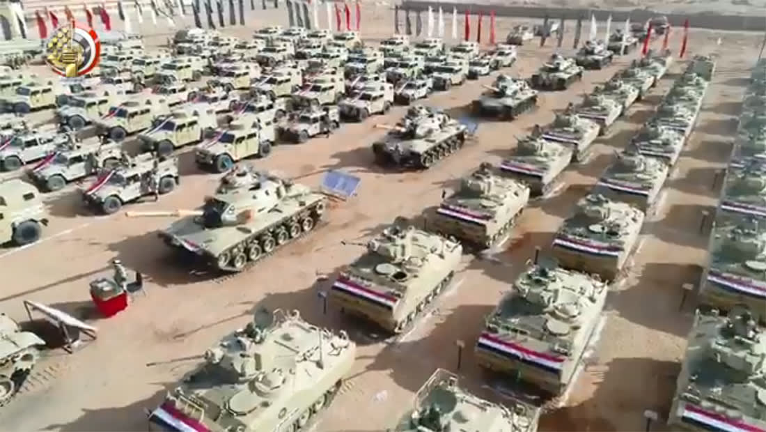 الجيش المصري ببيان 3: مداهمات وغارات وأعمال تأمين بحرية بعملية سيناء 2018
