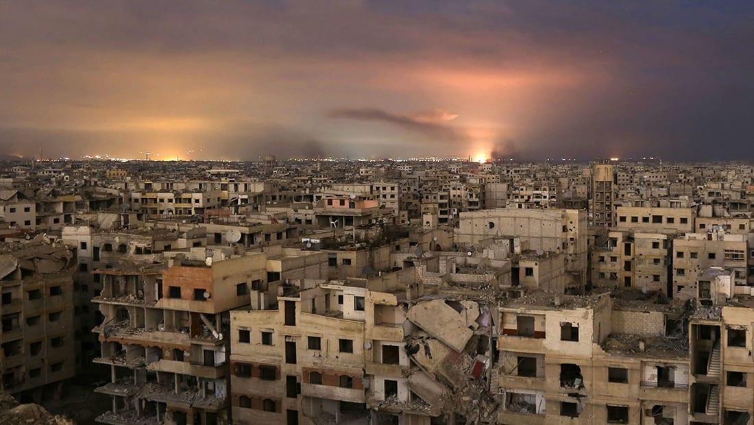 """المرصد السوري: طائرات النظام قصفت الغوطة بعد قرار """"وقف إطلاق النار"""""""