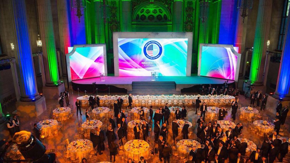 شاهد لقطات من أول مأدبة عشاء سنوي للشراكة السعودية الأمريكية