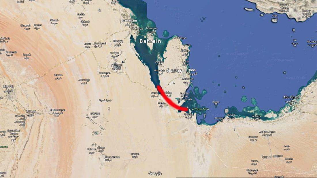 """تقارير عن """"قناة مائية"""" تفصل قطر بريا عن السعودية"""