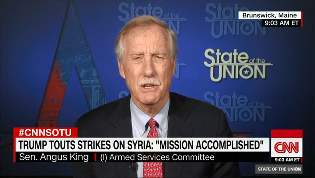 """بعد ضربة سوريا.. سيناتور أمريكي لـCNN: القول إن """"المهمة أنجزت"""" مستحيل"""