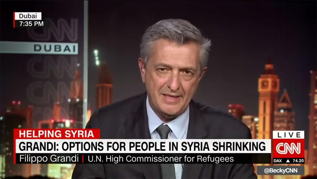 """غراندي لـCNN: سوريا باتت """"مصيدة موت"""" والخيارات تتقلص"""