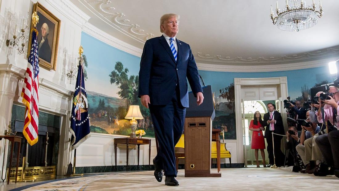 """وزير خارجية البحرين يؤيد انسحاب أمريكا من """"النووي الإيراني"""": موقف قيادي كبير لترامب"""