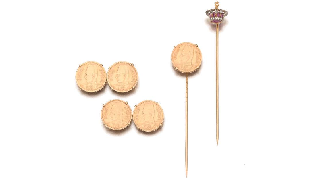 مجوهرات الملك فاروق الفاخرة تباع في مزاد في لندن