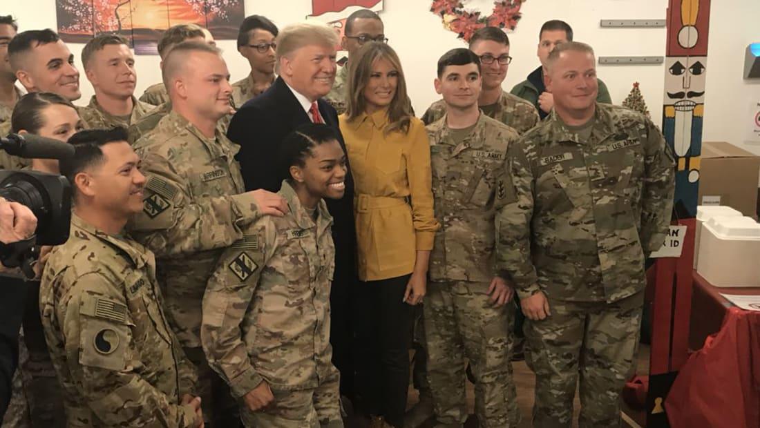 البيت الأبيض يكشف عن زيارة مفاجئة لترامب وزوجته إلى العراق