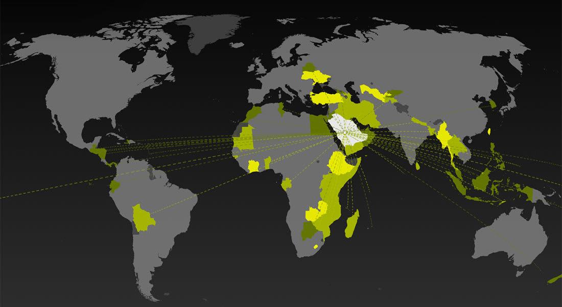 اضغط على موقع دولتك لتعلم أين يمكنك السفر دون تأشيرة