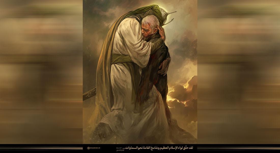 """صورة """"الحسين يحتضن سليماني"""" بموقع خامنئي تثير تفاعلا على تويتر"""
