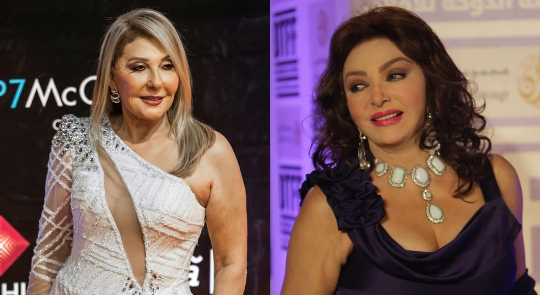 صورة تجمع الممثلتين المصريتين نبيلة عبيد (يمين) ونادية الجندي (شمال)