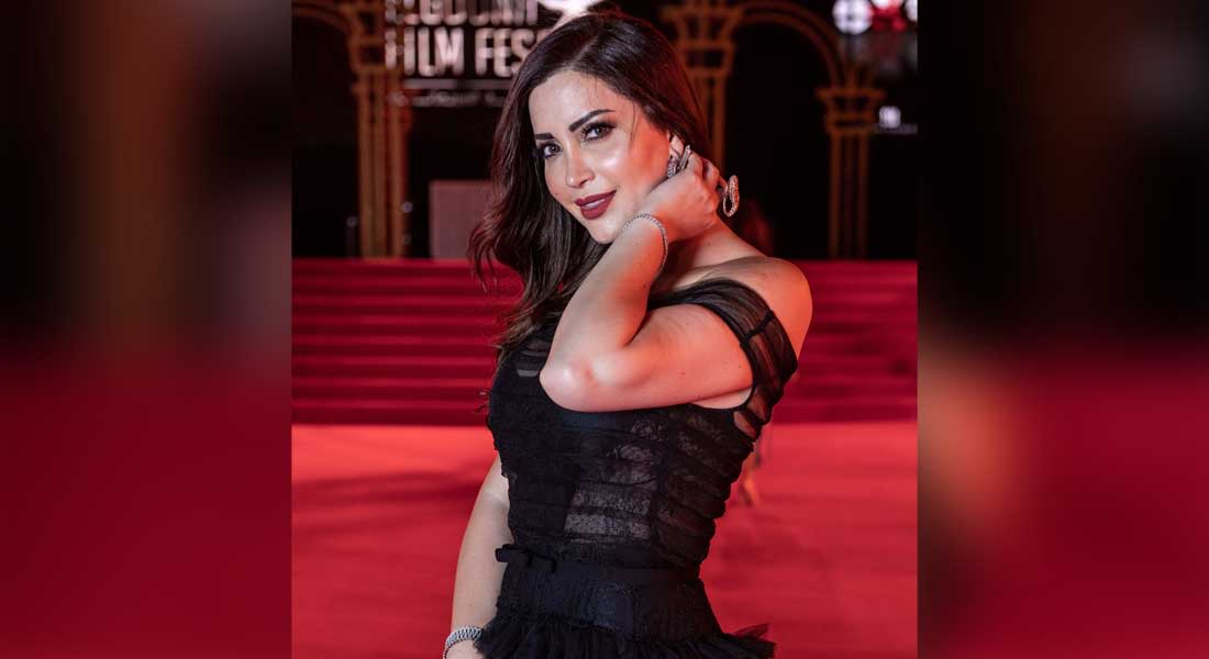 """الممثلة السورية نسرين طافش تحضر عرض فيلم """"آدم"""" في النسخة الثالثة من مهرجان الجونة السينمائي"""