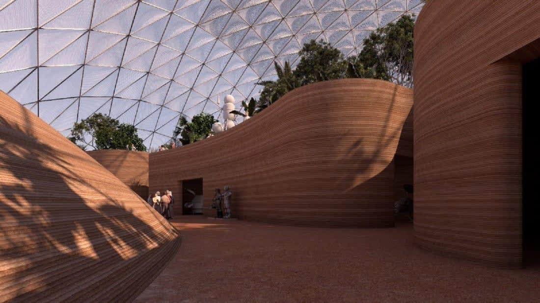 """""""مدينة المريخ العلمية""""..كيف يتحدى المعماريون بيئة الكوكب الأحمر على أرض دبي؟"""