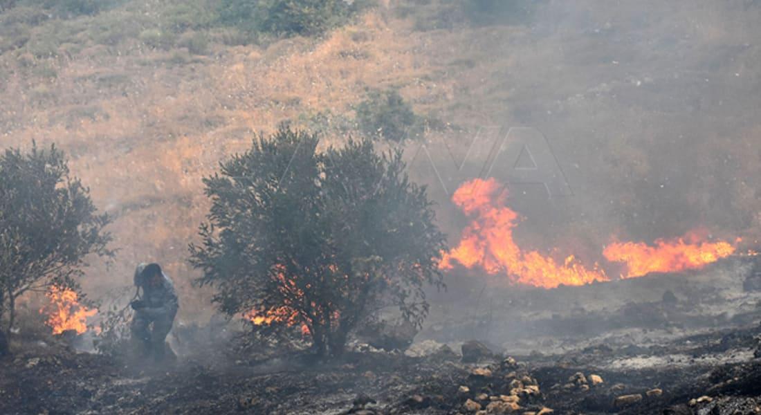 """صورة لحرائق سوريا نشرتها وكالة الانباء السورية """"سانا"""""""