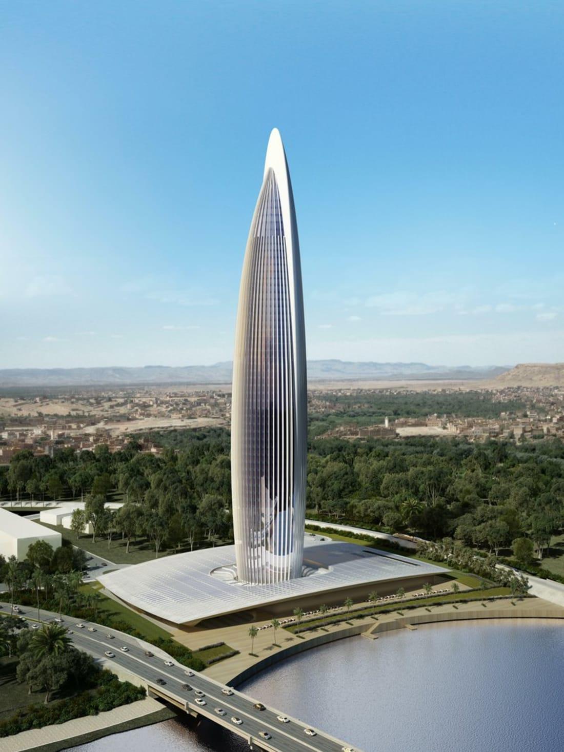 برج محمد السادس في العاصمة الرباط بالمغرب