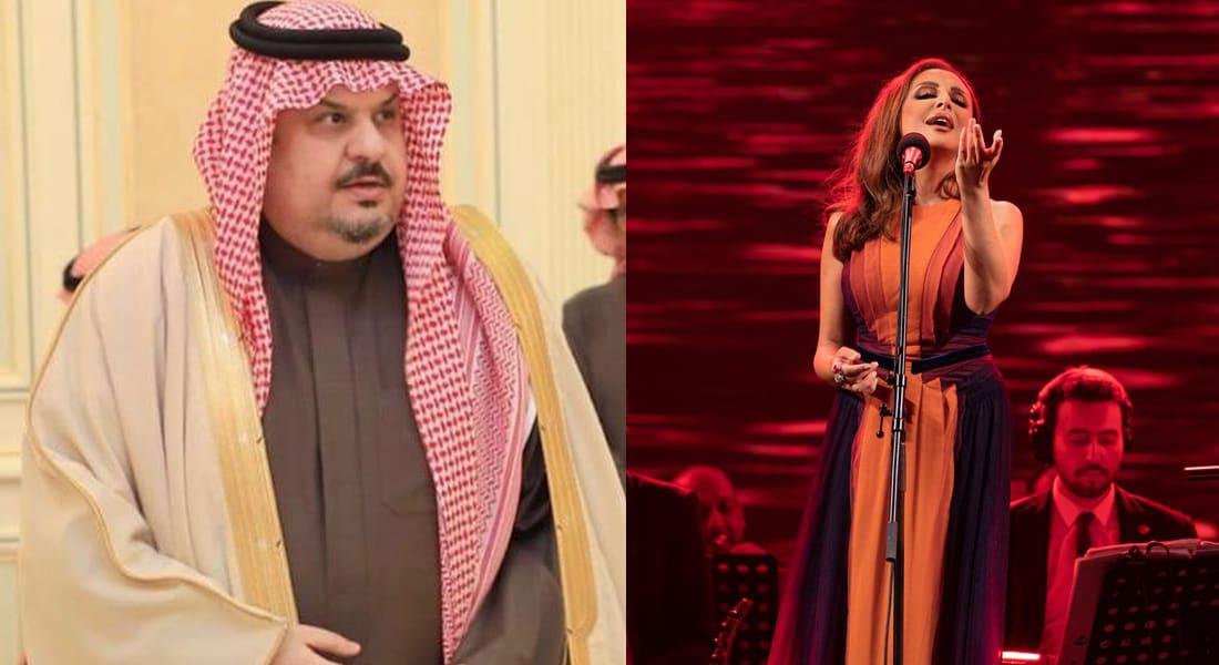 المطربة أنغام والأمير السعودي عبدالرحمن بن مساعد