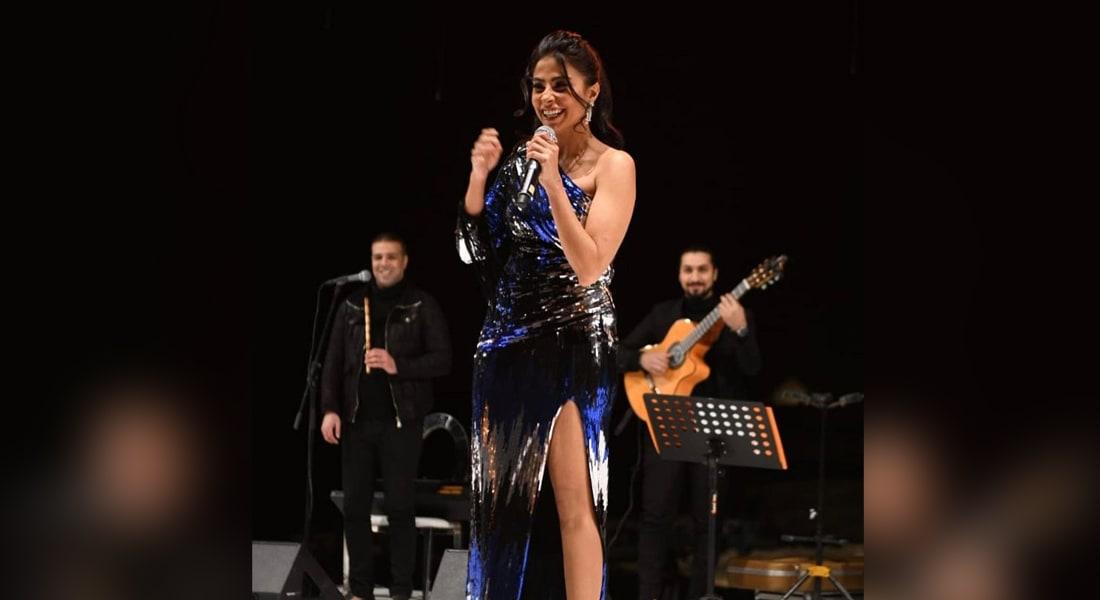 صورة نشرتها الفنّانة روبي عبر حسابها الرسمي على إنستغرام من حفل خاص في مصر