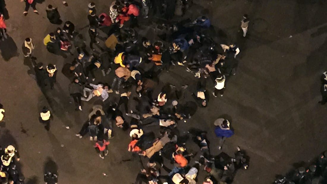 بالفيديو.. أولى كوارث 2015 مصرع 35 وجرح العشرات خلال احتفالات العام الجديد بالصين