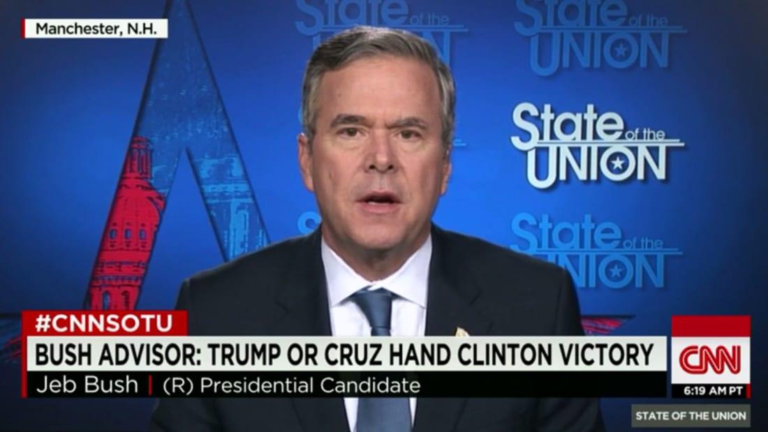 شاهد: صدام على الهواء بين بوش وترامب حول حظر دخول المسلمين