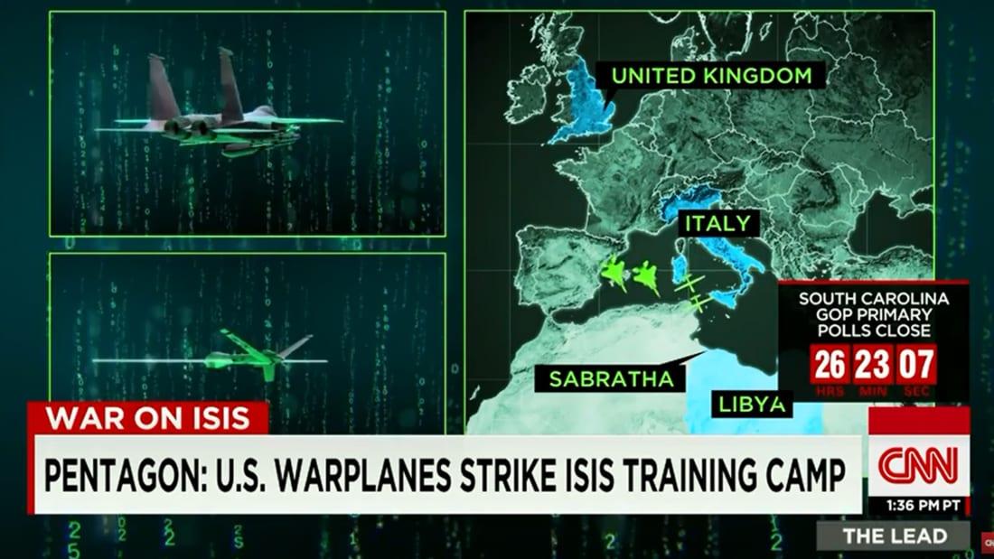 """بالفيديو: غارات أمريكية على موقع لـ""""داعش"""" في ليبيا تسقط أكثر من 40 قتيلا"""