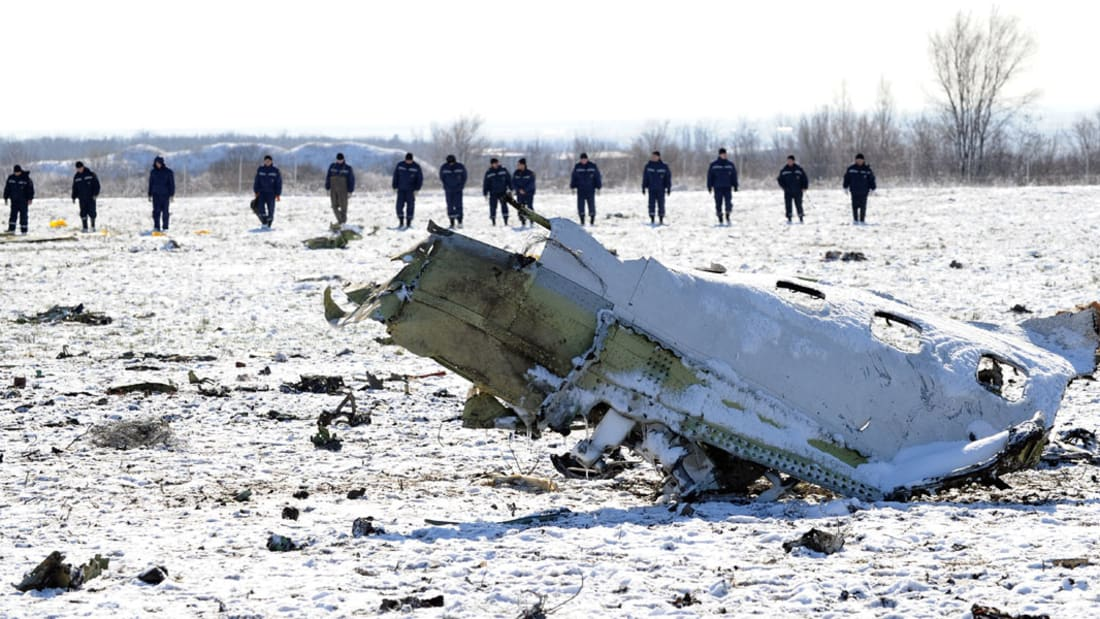 """شاهد.. مسار طائرة """"فلاي دبي"""" قبيل تحطمها في جنوب روسيا"""